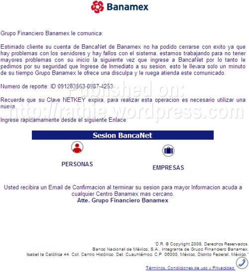 Mail Banamexfalso
