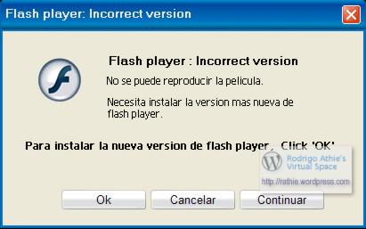 Diálogo Falso de Flash